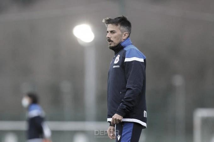 """Rubén de la Barrera: """"La realidad nos lleva al Guijuelo. Para ganar al Racing de Ferrol lo tendremos más fácil si ganamos antes al Guijuelo"""""""