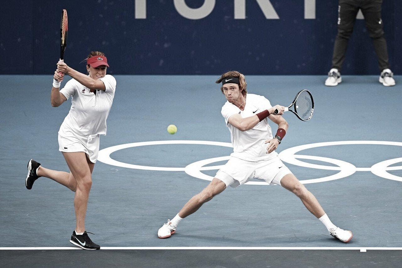 Pavlyuchenkova/Rublev viram contra Barty/Peers e estão na final das duplas mistas em Tóquio
