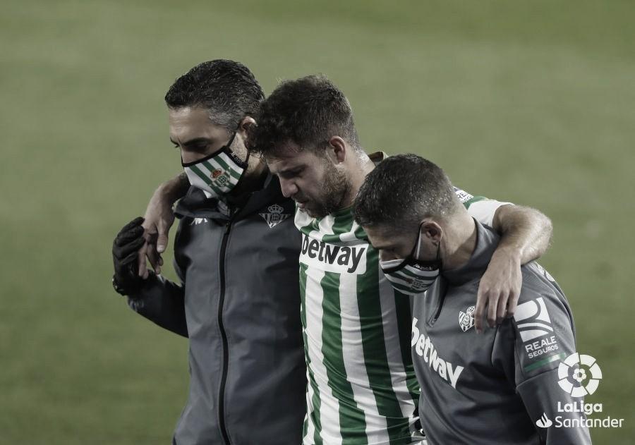 Ruibal se marchó lesionado. Fuente: LaLiga