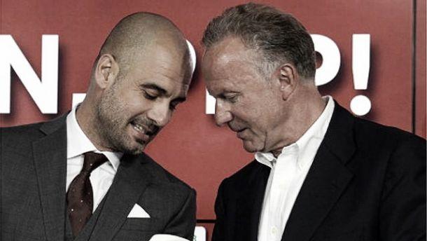 Diretor do Bayern de Munique elogia Guardiola dentro e fora de campo