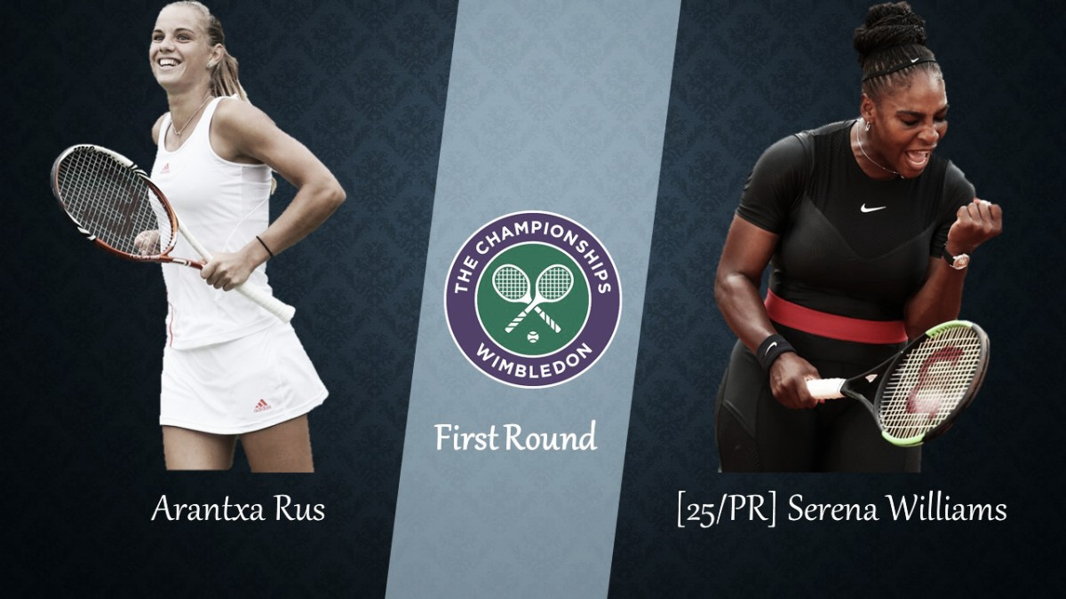Wimbledon First Round Preview: Arantxa Rus vs Serena Williams