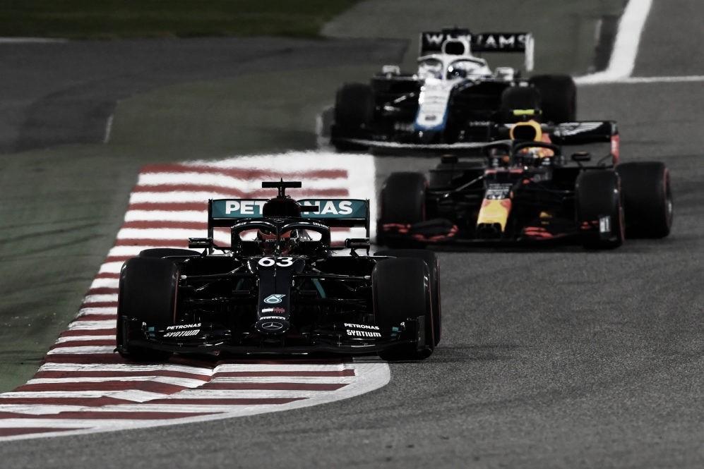 Russell en su debut con Mercedes. Foto: F1