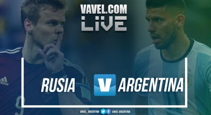 Resumen Rusia vs Argentina en vivo por amistoso internacional (0-1)