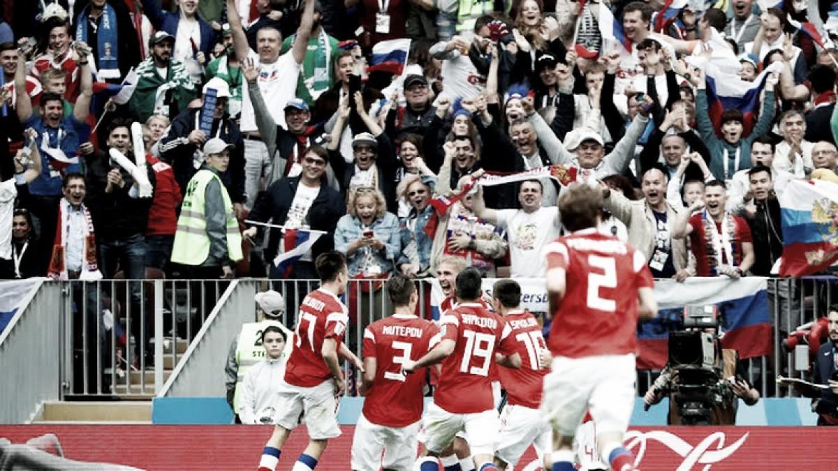 Rusia goleó a Arabia Saudita en el debut mundialista