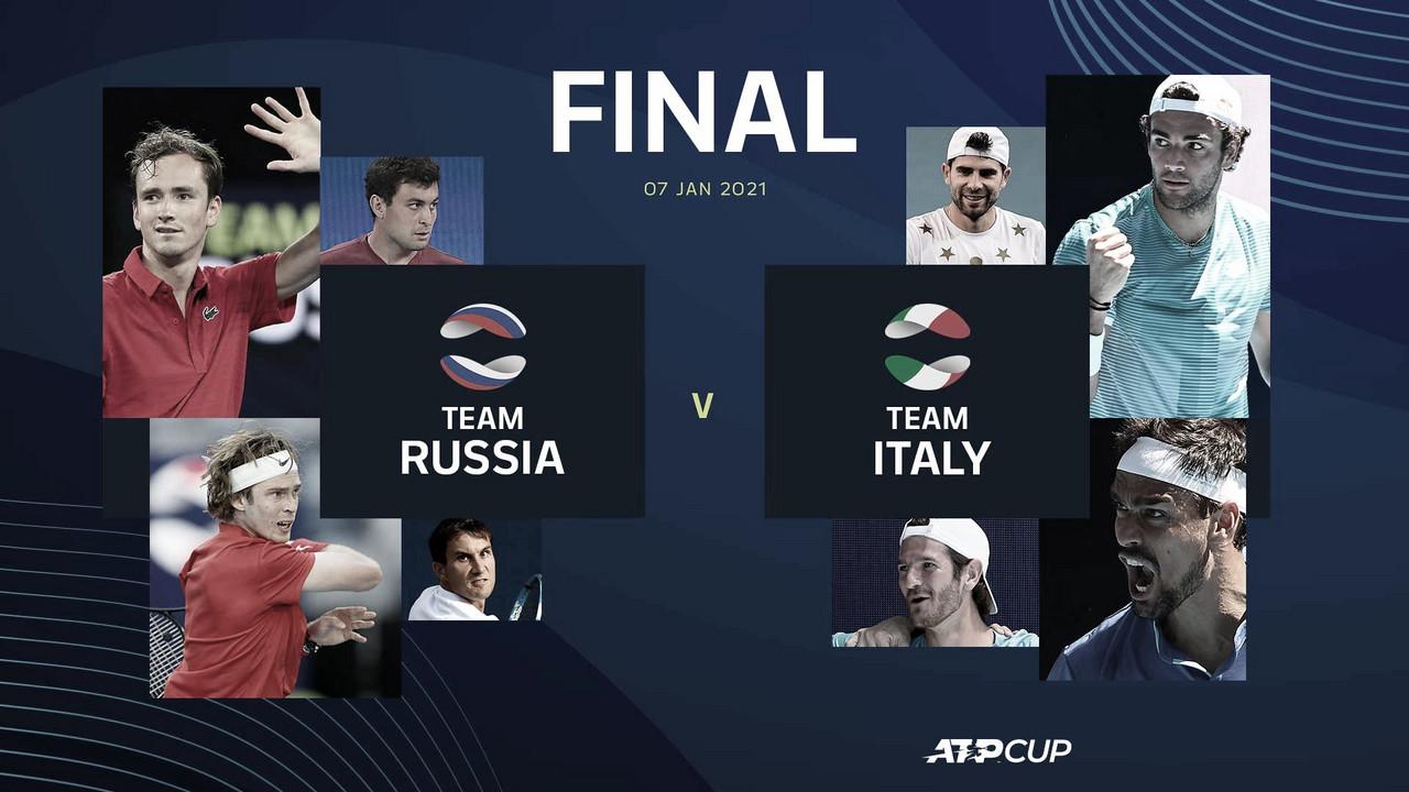 Italia y Rusia jugarán la final de la ATP Cup