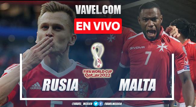 Goles y resumen del Rusia 2-0 Malta en Eliminatorias Europeas 2021