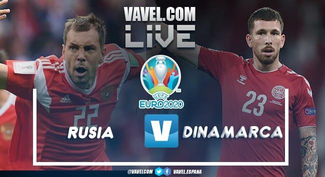 Resumen Rusia vs Dinamarca en la Eurocopa 2021