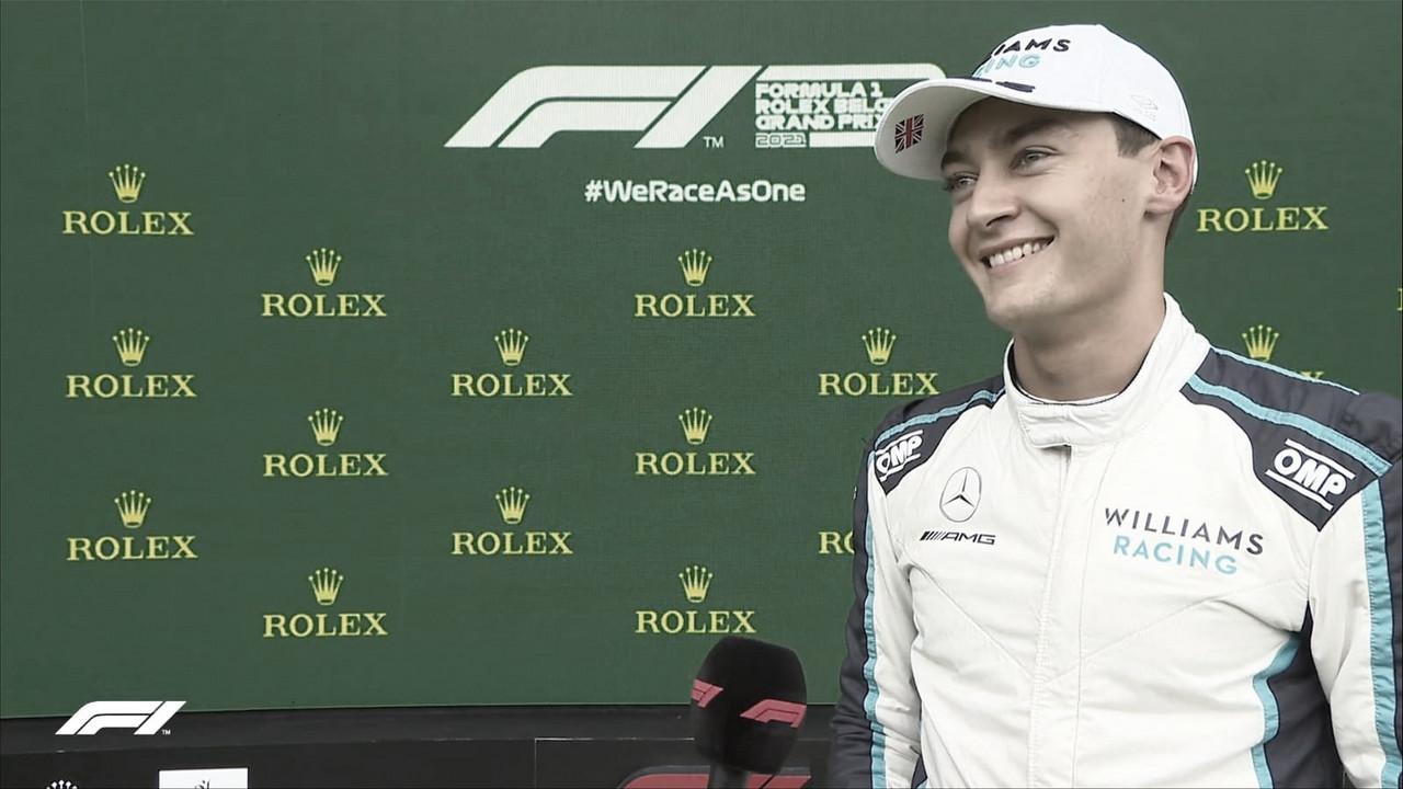 Russell mostra surpresa com segunda posição no qualifying do GP Bélgica 2021; até Hamilton elogia prodígio britânico