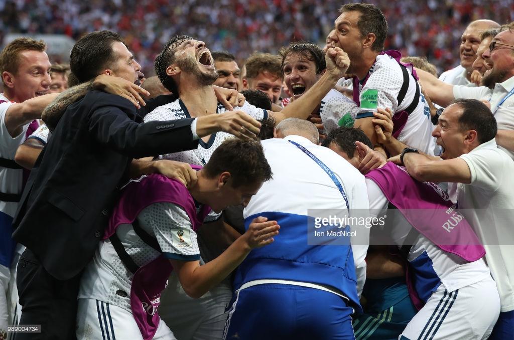 Spain (3) 1-1 (4) Russia (AET) Hosts stun the world to reach quarter-finals