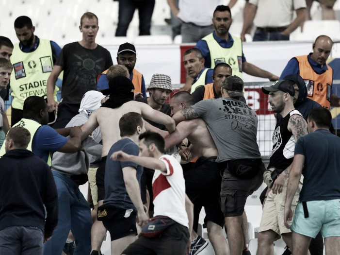 Russia handed suspended disqualification after stadium violence