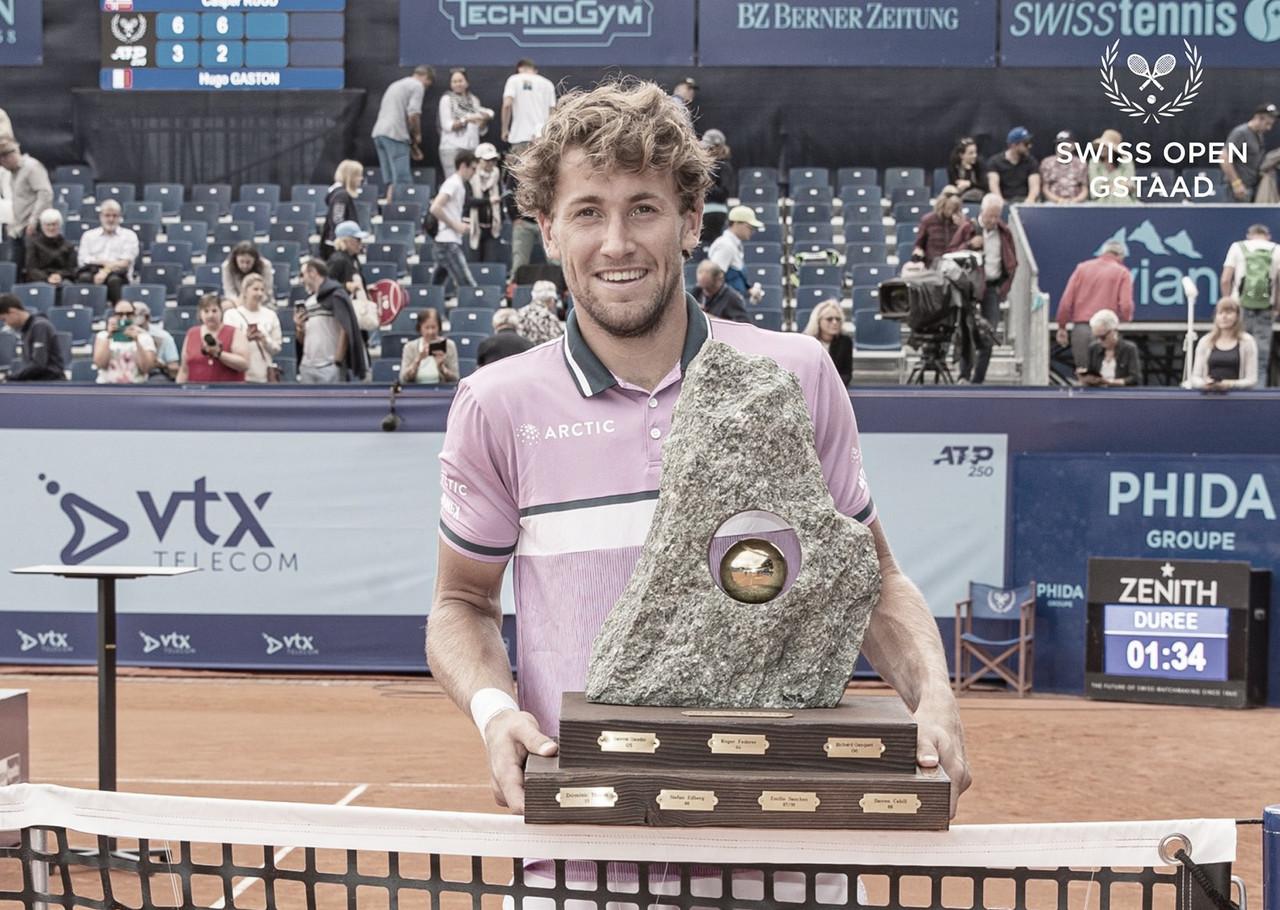 Ruud bate surpreendente Gaston em Gstaad e vence segundo título consecutivo