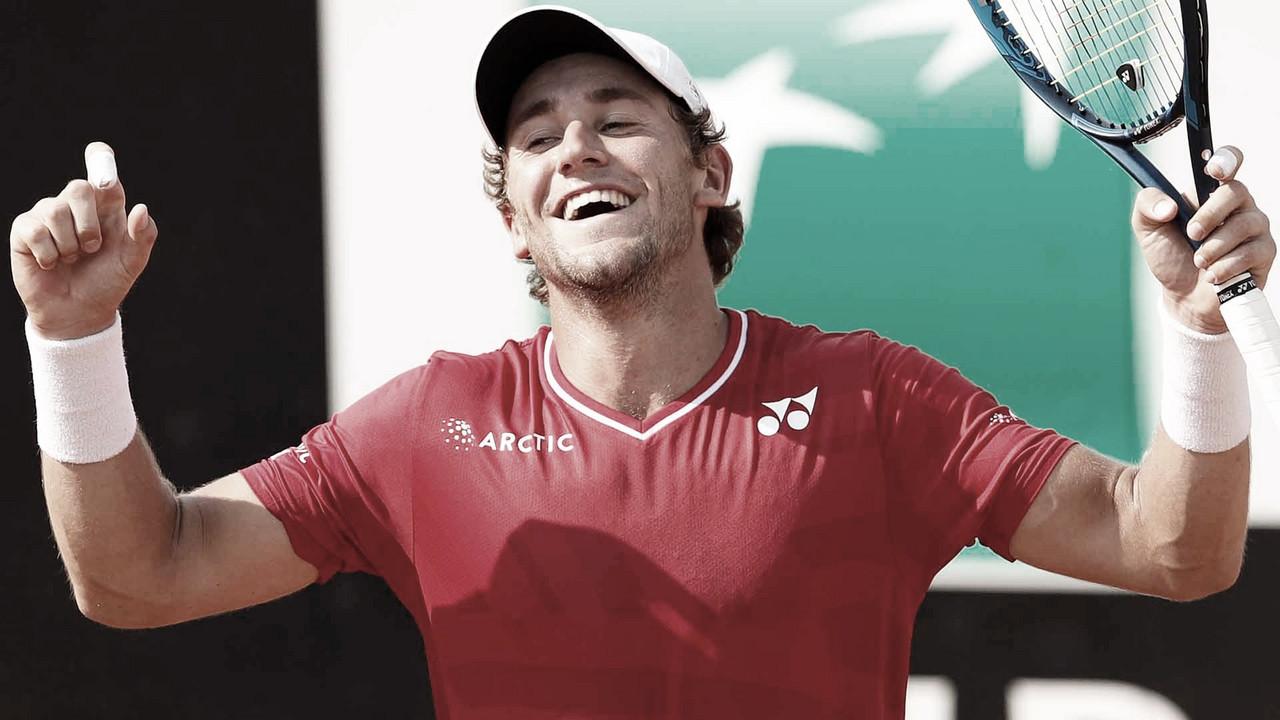 Casper Ruud faz história, vence Berrettini e faz primeira semifinal de Masters 1000 a carreira