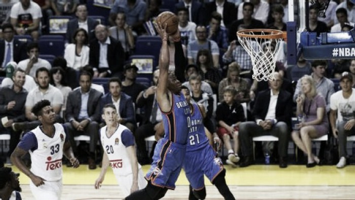 NBA preseason, il Real Madrid sorprende i Thunder all'overtime (142-137)