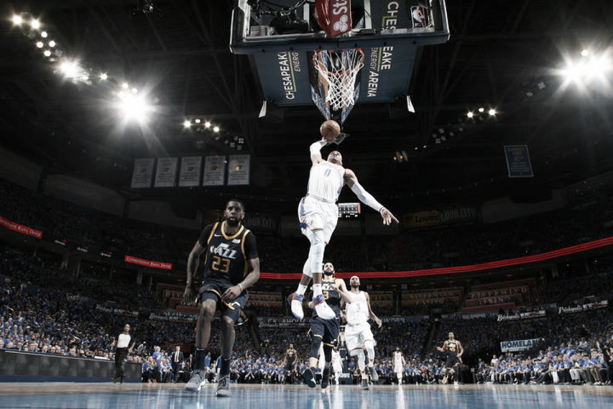 NBA playoffs, George e Westbrook trascinano OKC contro i Jazz in gara-1 (116-108)