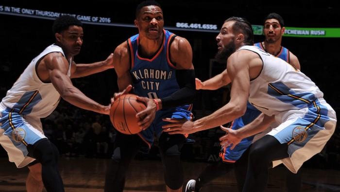 NBA - Oklahoma passa a Denver: Gallinari non basta (104-110)