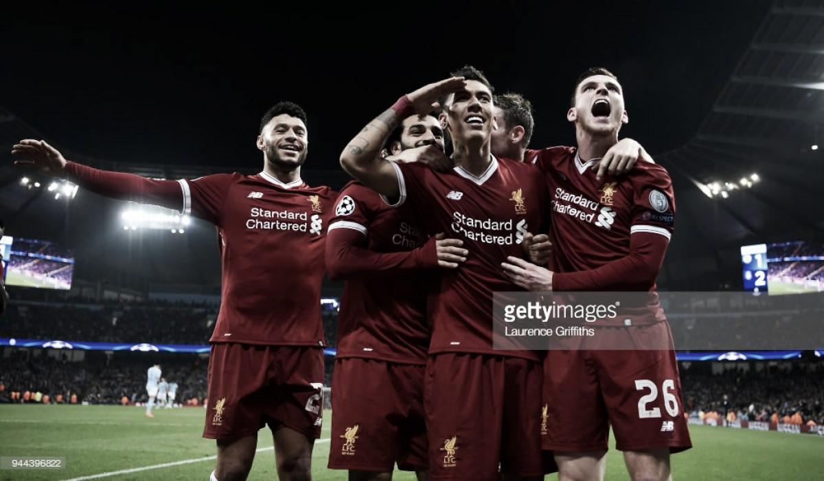 """Liverpool volta a vencer City e confirma passagem para as """"meias"""" da Champions"""