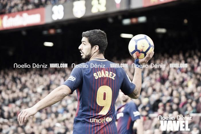 """Luis Suárez: """"Cada vez nos entendemos mejor con Alcácer"""""""