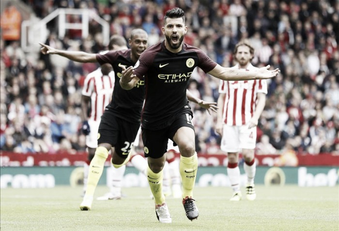 Stoke City 1-4 Manchester City: Aguero, Nolito braces help City join United at Premier League summit