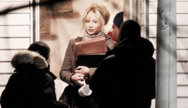 Jennifer Lawrence en el set de rodaje de 'Joy', de David O. Russell