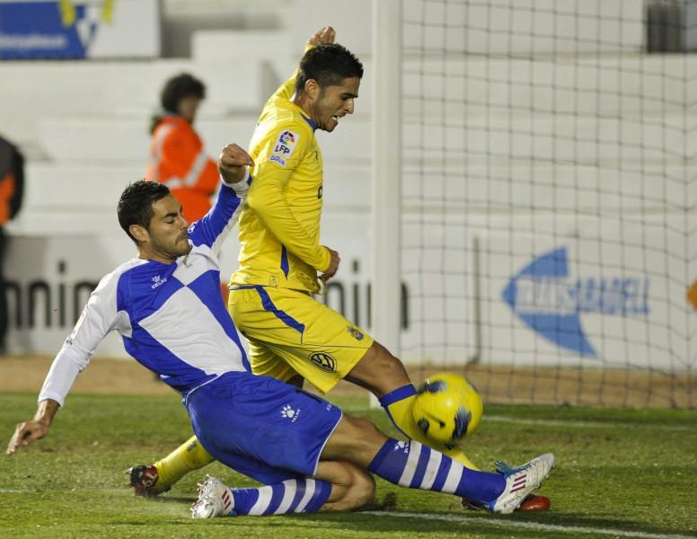 Partido vibrante entre Las Palmas y el Sabadell