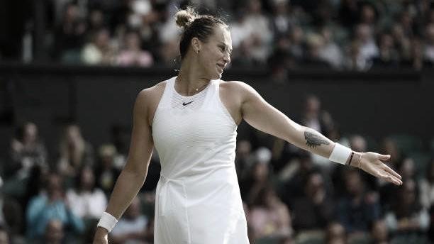 Sabalenka sofre susto no primeiro set, mas vence Boulter em Wimbledon