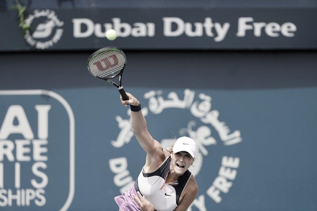 Sabalenka erra pouco e vence Kontaveit em Dubai; Gauff e Mertens seguem firme