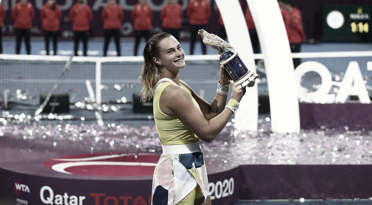Sabalenka bate Kvitova na decisão em Doha e conquista sexto título na carreira