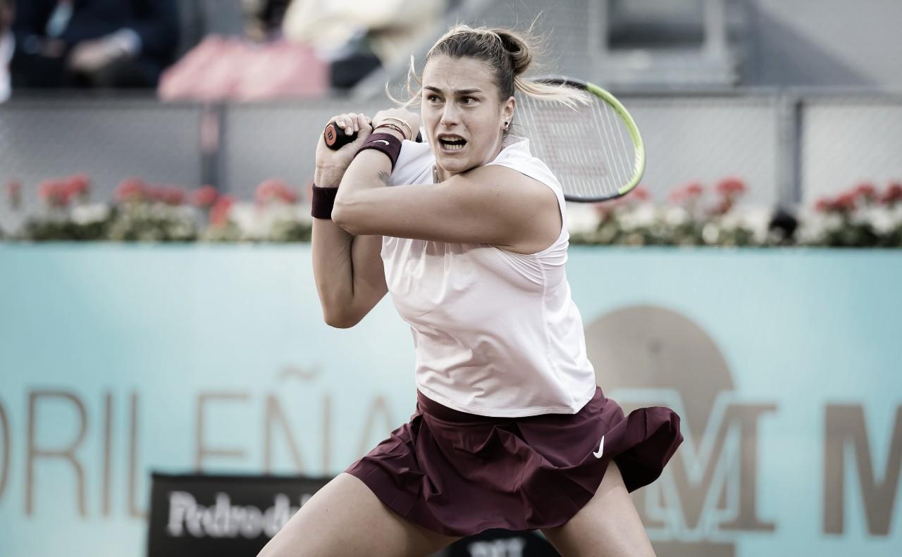 Sabalenka passa por Pavlyuchenkova em Madrid e enfrenta Barty pela segunda final seguida