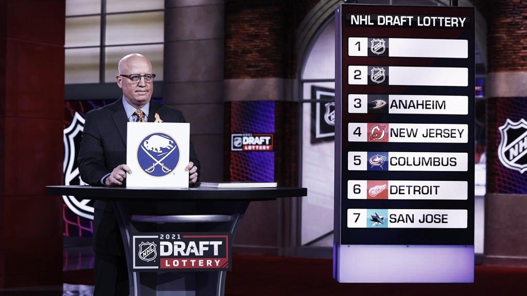 Buffalo Sabres gana la primera selección en la Lotería del Draft de la NHL 2021