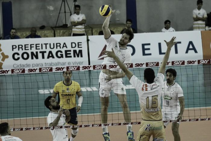Sada Cruzeiro passa tranquilo pelo Caramuru Vôlei e emplaca segundo triunfo na Superliga