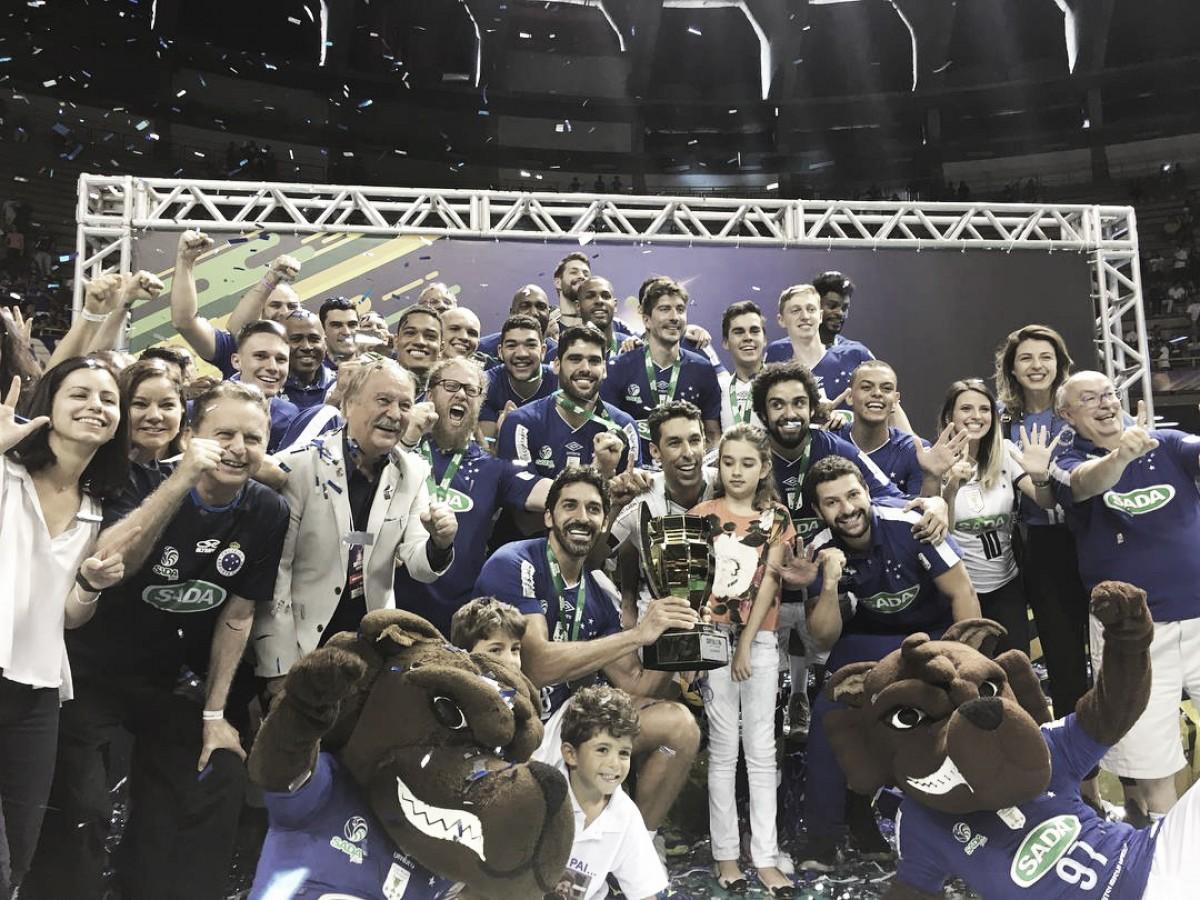 É hexa! Cruzeiro derrota Sesi-SP no tiebreak e conquista sexto título da Superliga