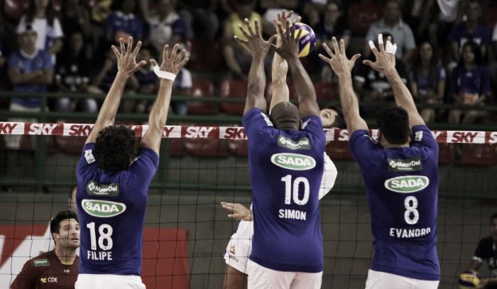 Cruzeiro vence Vôlei/Renata na Copa Brasil de vôlei e chega à semifinal da competição