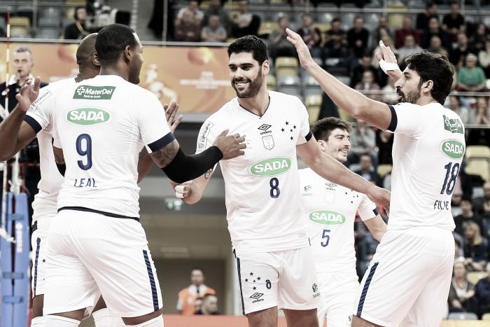 Resultado Sada Cruzeiro xZaksa Kedzierzyn-Kozle pelo Mundial de Clubes de vôlei (3-0)