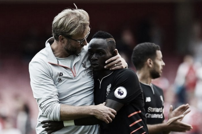 "Sadio Mane's injury ""not that serious"" confirms Liverpool manager Jürgen Klopp"