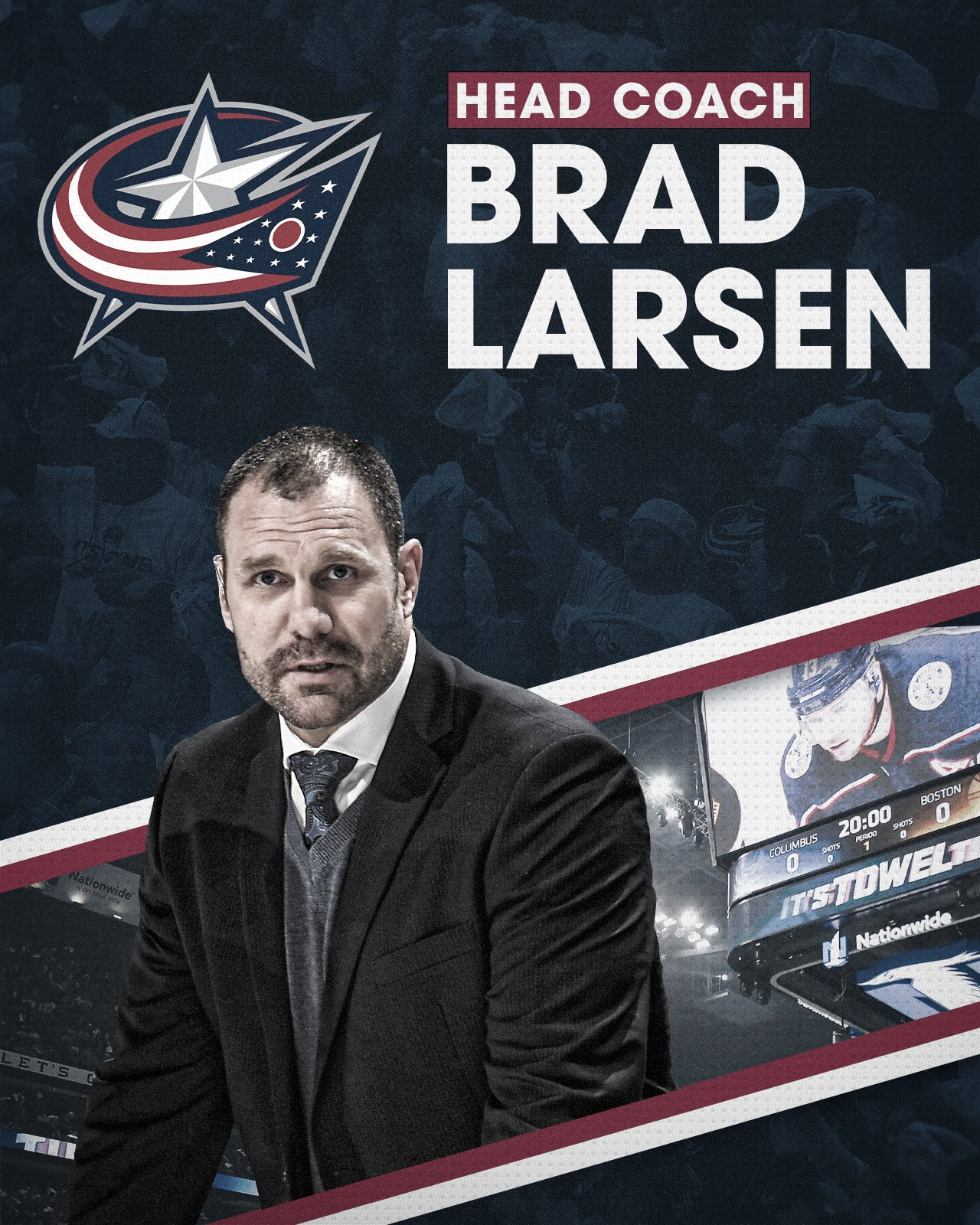 Brad Larsen es el nuevo entrenador de los Blue Jackets
