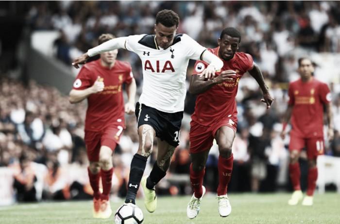 Em jogo equilibrado, Liverpool empata com Tottenham e mantém tabu