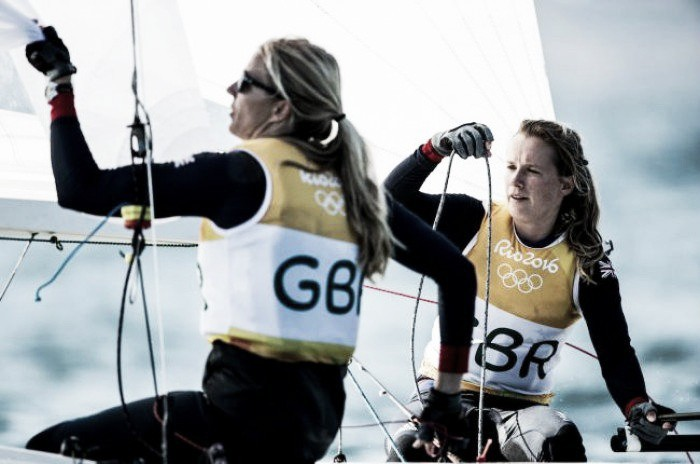 Rio 2016: Giles Scott celebrates, whilst Hannah Mills and Saskia Clark win gold number two on the waves for Team GB