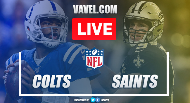 Score and Touchdowns: Indianapolis Colts 7-34 New Orleans Saints in NFL 2019