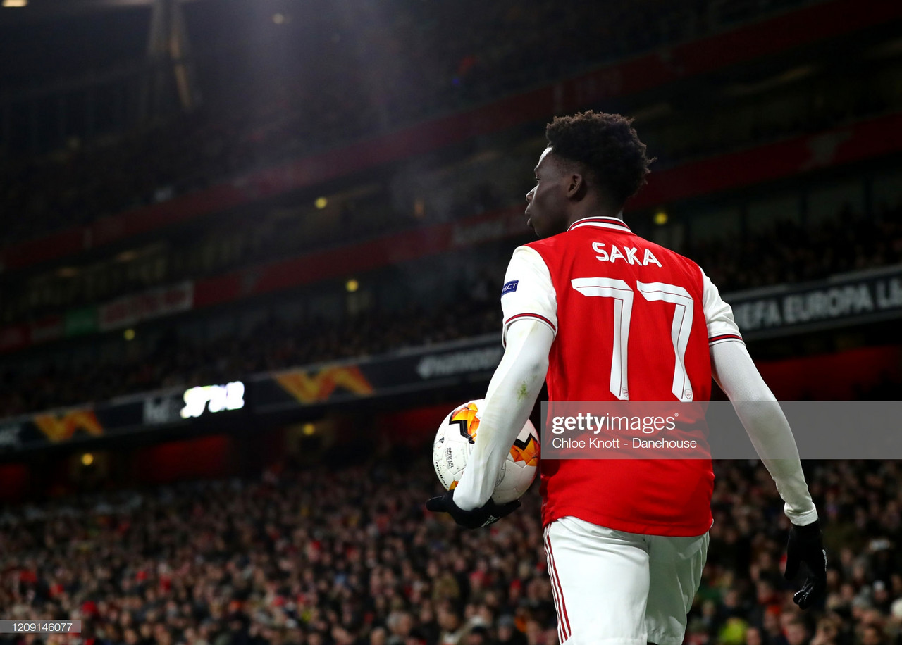 Saka staking his claim for a place in Southgate's squad