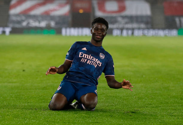 Sublime Saka wins Arsenal's January Player of the Month