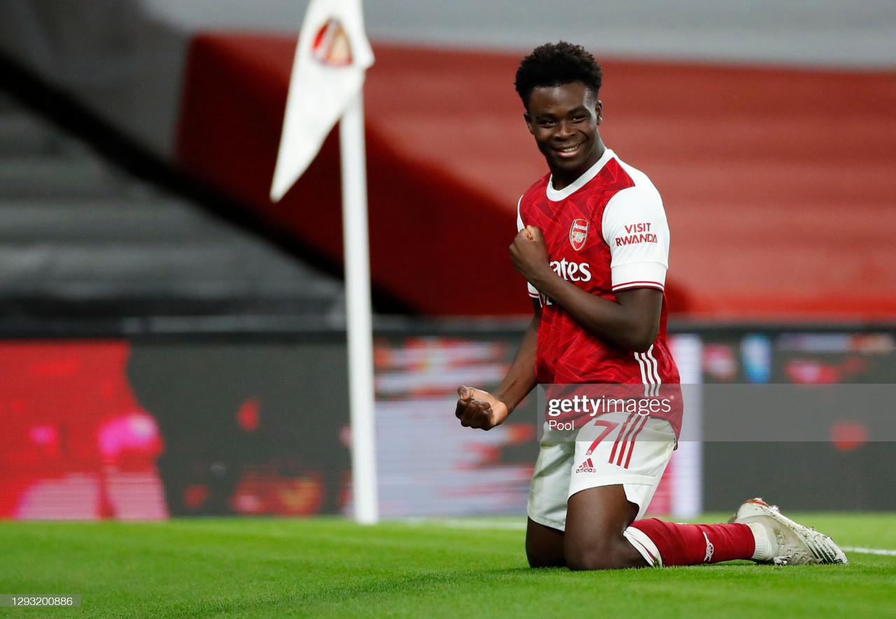 Bukayo Saka win's Arsenal Player of the Month