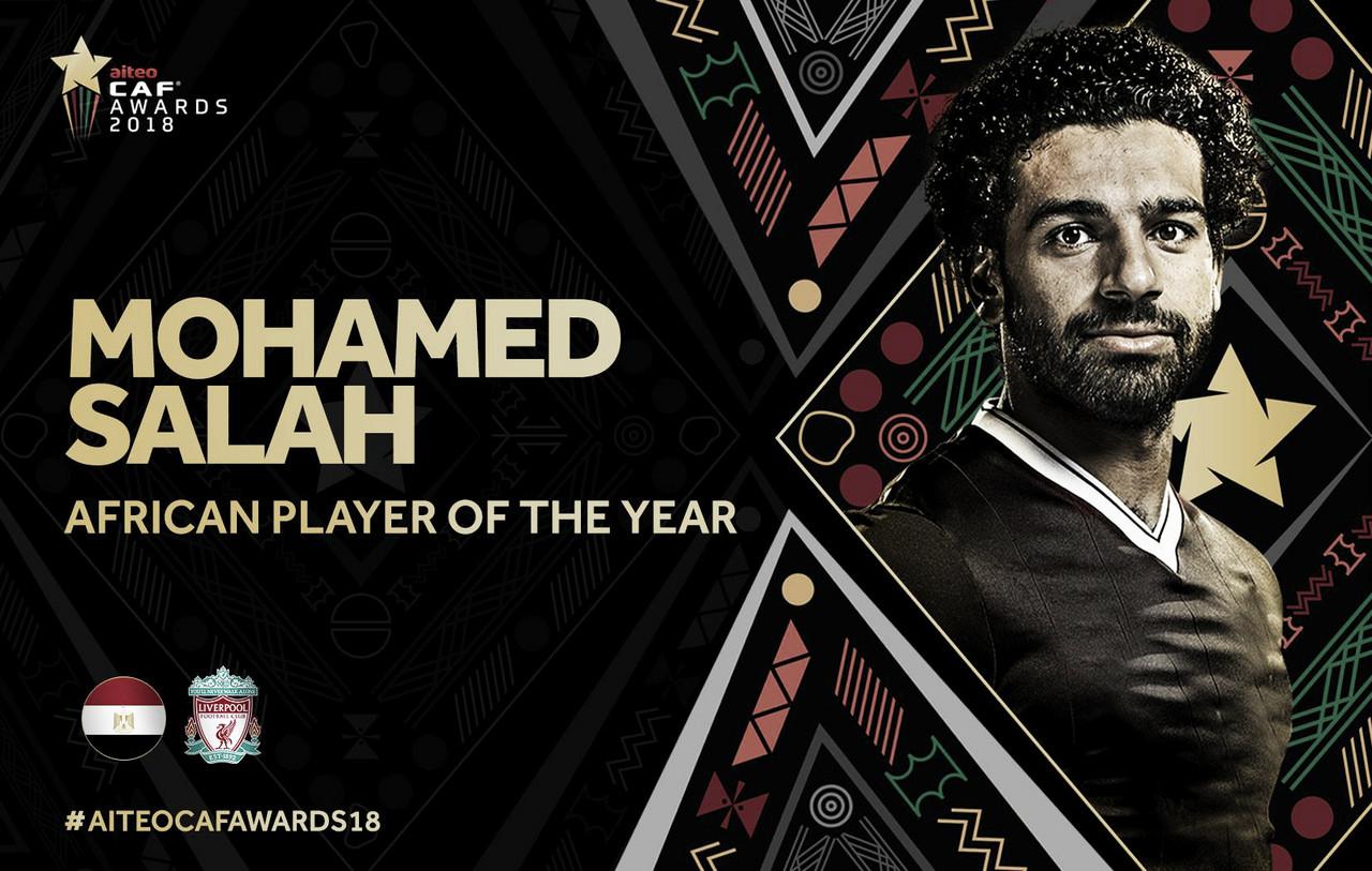 Salah é eleito o melhor jogador africano pelo segundo ano consecutivo