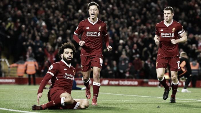 Una exhibición de Salah concede al Liverpool la victoria