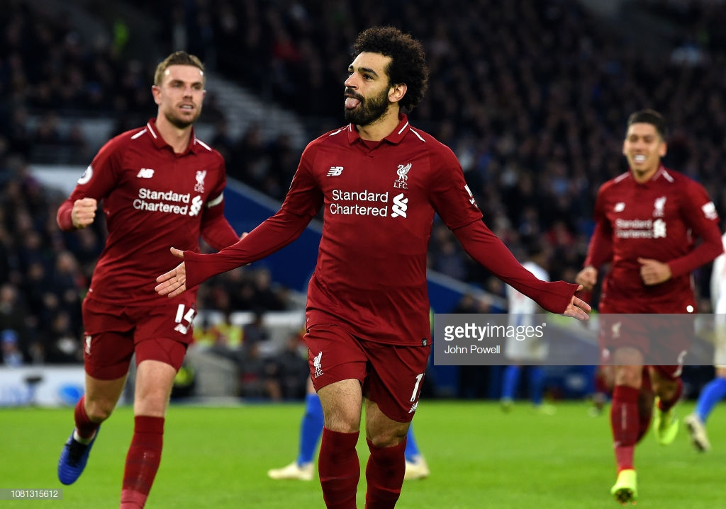 Brighton 0-1 Liverpool: Salah's spot-kick sends Reds seven clear at Premier League summit