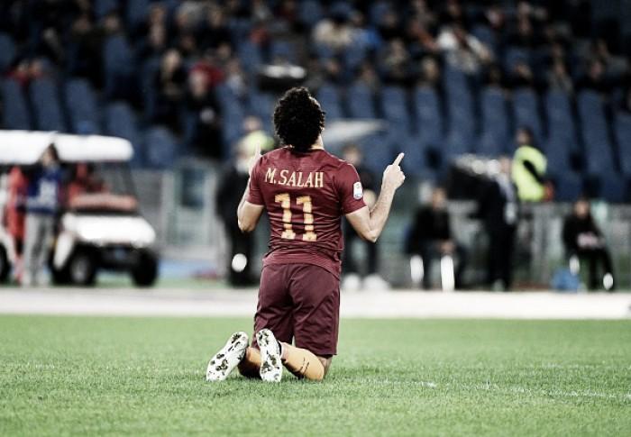 Salah marca três vezes, Roma vence Bologna e reassume vice-liderança da Serie A