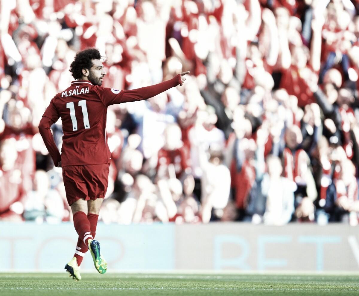 Salah decide, Liverpool derrota Brighton e assume a liderança da Premier League