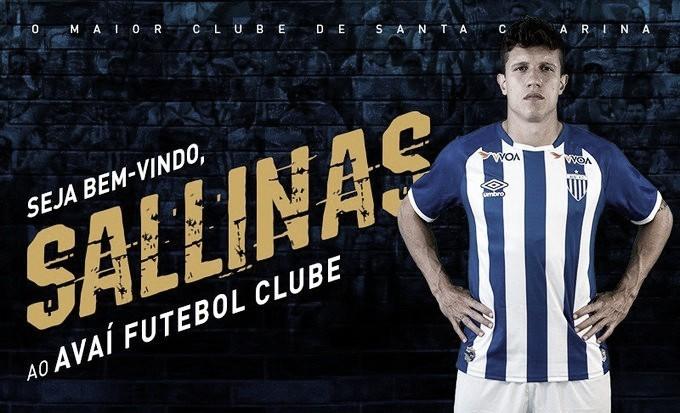 "Avaí anuncia zagueiro Victor Sallinas: ""Estou focado em levar o Avaí para Série A"""