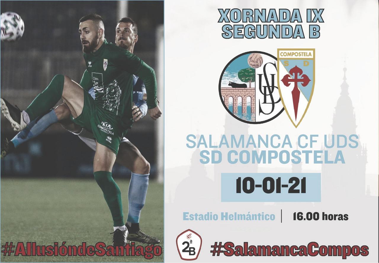 Horario confirmado para el partido entre Salamanca CF y Compostela