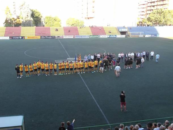Sant Andreu 2-0 UD Gramanet: presentación, homenajes y victoria