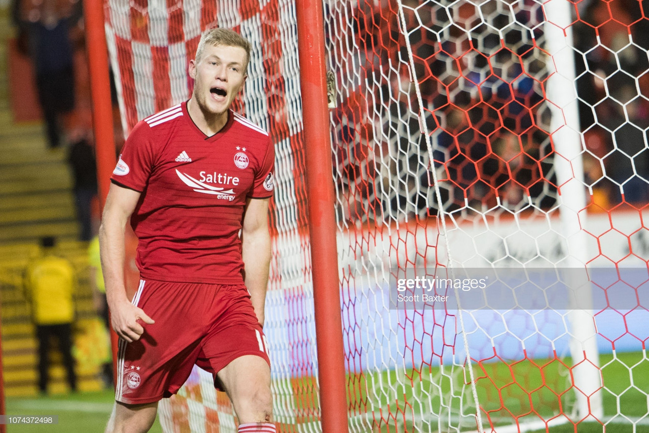 Aberdeen 5-0 Chikhura Sachkhere: Cosgrove hits a hat trick in Euro rout